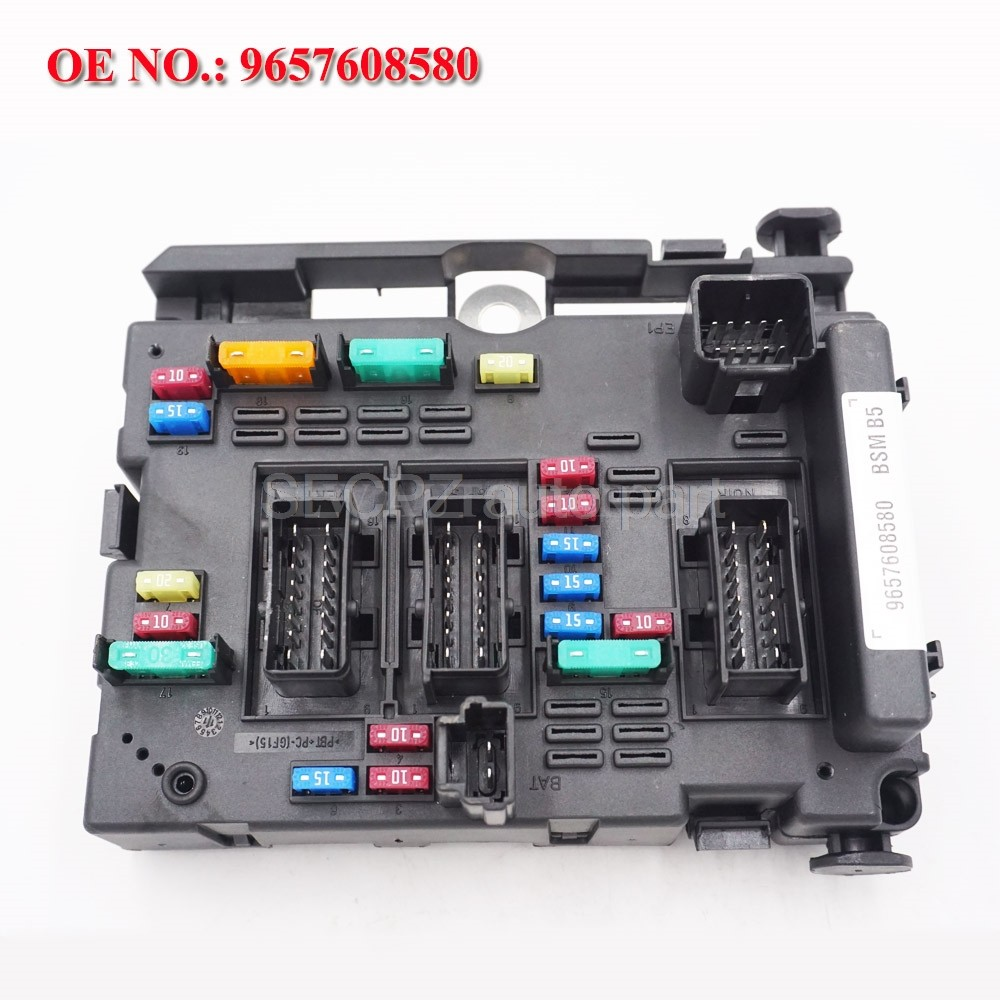 9657608580 Fuse Box Module General System Relay Controller Body Control for  PEUGEOT 206 CABRIO 307 CABRIO 406 COUPE 807 Fuses  - AliExpressAliExpress
