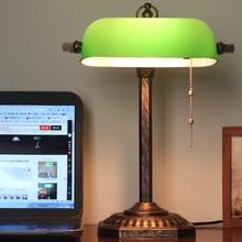 Vintage películas tipo vidriera china y banco de televisión lectura estudio lámpara de mesa para sala de estar dormitorio Oficina escritorio decorativo