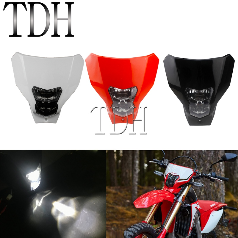 2019-2020 NEW LED Motocross Dirt Bike Headlight HI/LO Beam Front Lamp For Honda CRF450L CRF450XR CRF250R CRF450R CRF X/R