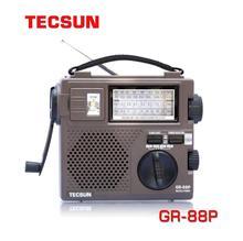 Oryginalny Tecsun GR-88P FM/MW/SW pełnozakresowy odbiornik radiowy cyfrowe ręczne Radio Dynamo z awaryjne światło LED