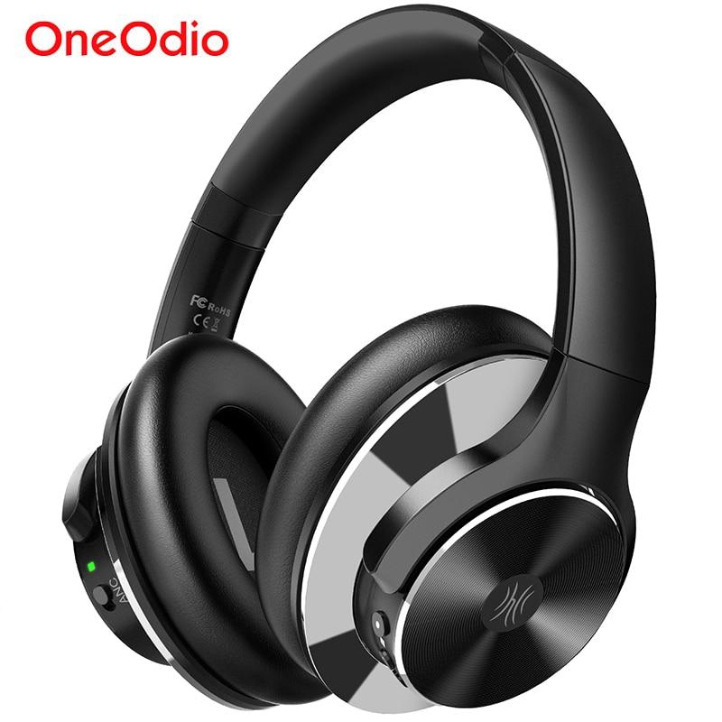 Oneodio A10 casque anti-bruit actif 750mAh Bluetooth 5.0 casque sans fil avec Microphone USB C charge rapide AAC