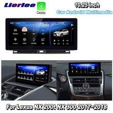Liorlee Per Lexus NX 200t NX 300 2014 2016 Car Android Lettore Multimediale di Navigazione GPS Radio Audio Stereo HD schermo di Visualizzazione Dello Schermo TV