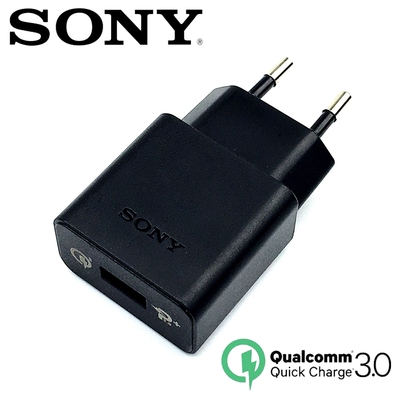 Original Sony Fast Charger QC 3.0 EU Travel Charger USB For Xperia Z1 Z2 Z3 Z4 Z5 Z3C Z5P Xp / Xa1 XZ XZs XC XZp XZ1 XZ1C Xz XZ2