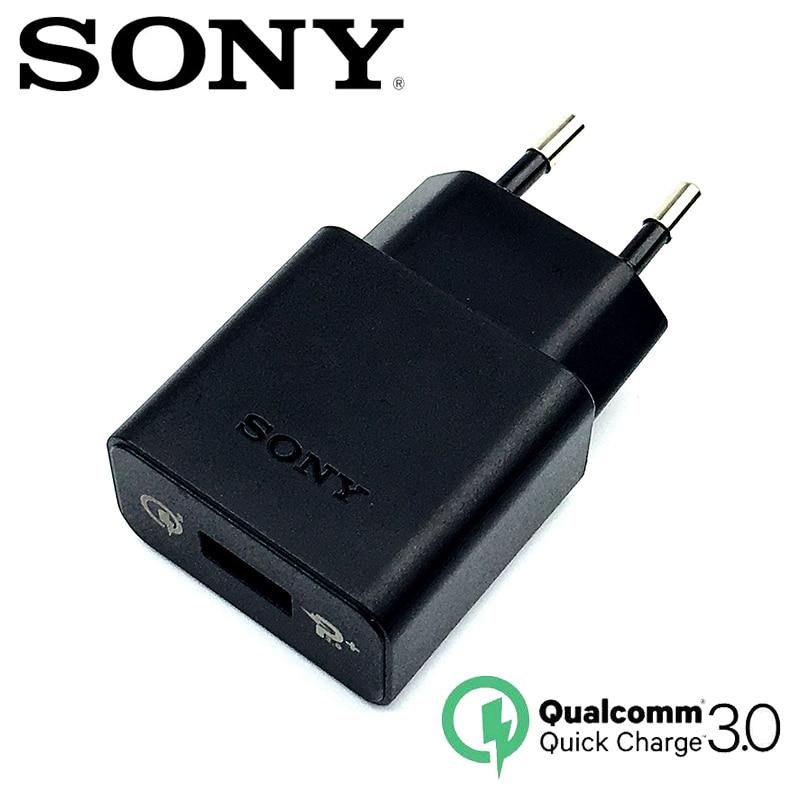 Original Sony Fast Charger QC 3.0 EU Travel Charger USB For Xperia Z1 Z2 Z3 Z4 Z5 Z3C Z5P Xp / Xa1 XZ XZs XC XZp XZ1 XZ1C Xz XZ2