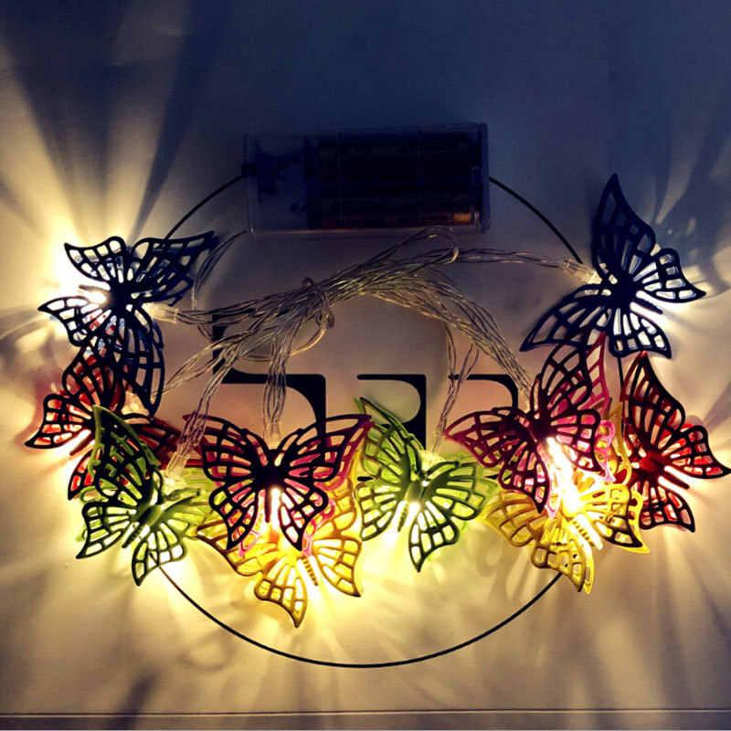 10 светодиодный s светильник на солнечной батарее с бабочкой, разноцветный светодиодный светильник, ночная атмосферная лампа, домашние, вечерние, настольные, Настенный декор, 2,5 м, теплый белый