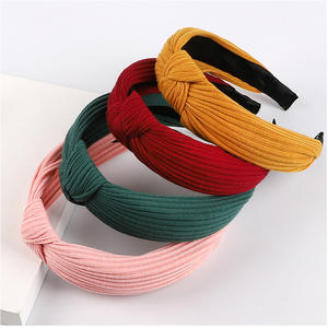 Solid Knitting Headbands For Women Girls Twisted Knotted Elasticity Hairbands Makeup
