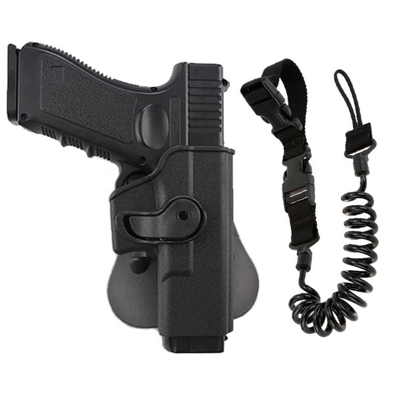 Tatical coldre pistola sling para glock 17 19 22 26 31 airsoft pistola coldre caso com arma sling caça acessórios coleiras