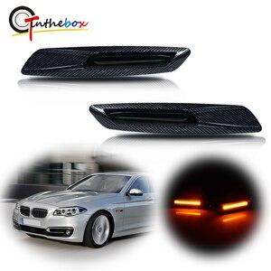 Gtinthebox Янтарный светодиодный автомобиль передняя сторона маркерные огни пульт дистанционного управления для BMW 1 3 5 серии E81 E82 E87 E88 F30 E90 E91 E92 E93 E46 E60 E61