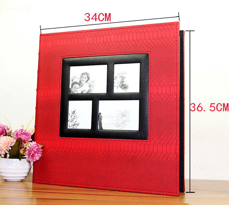 <font><b>400</b></font> Sheets Photos Book Wedding Picture Album PU Leather Albums Cover Scrapbook Anniversary Gift Large Size Photo Album image