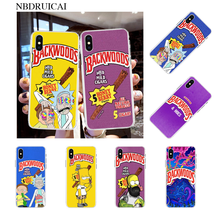NBDRUICAI rick and morty backwoods Honey Berry Cigars Novelty Phone Case for iPhone 11 pro XS MAX 8 7 6 6S Plus X 5S SE XR case ruicaica rick and morty backwoods cigars silicone phone case cover for iphone x xs max 6 6s 7 7plus 8 8plus 5 5s se xr 10