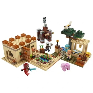 Новый Lepining, совместимый с MinecraftINGlly 21160, деревня, разбивающая мой мир, строительные блоки, игрушки для детей