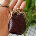 Bolsa de moedas feminina super mini bolsas de chave carteiras de couro de vaca genuína garras retro artesanal bolsas senhoras pequena chaveiro bolsa