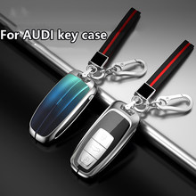 Car Remote Smart fob Key Shell Case Cover For AUDI 2020 Q5L/Q2L/A4L/A5/A6L/A7/A8/A8L/Q3/Q5/Q7/S3/S4/S5/S6/S8/ TT/TTS/TTRS/S7/R8(China)