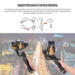 Image 2 - Sıcak 3C AFI V5 taşınabilir 3 eksenli el Gimbal cep telefonu Video sabitleyici ile kısılabilir doldurun işık için 6 inç Smartpho
