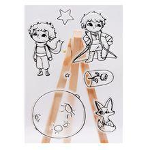 Принц планета Мультфильм силиконовый печать штамп DIY Скрапбукинг Фотоальбом Декор