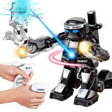 RC Robot Toy Combat Robot Control RC Battle Robot Toy For Boys Children Gift With Light Sound Remote Control Toys Body Sense new intelligent rc robot funny indoor outdoor game toys 2 4g dancing battle model toy multi function remote control robots