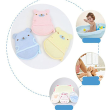 Newborn Baby Cartoon Bath Brushes Cotton Bath Supplies Baby Bath Towel Bath Sponge for Boys Girls Bathroom Supplies