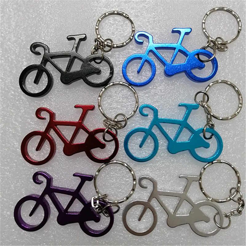 1 ชิ้น Outdoor EDC Multi จักรยานพวงกุญแจ Keyring ขวดเบียร์เครื่องมือเปิดไวน์ Multi สี