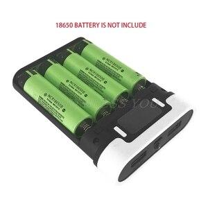 Image 2 - Dual USB Màn LCD Chống Đảo Ngược Di Động Công Suất Ngân Hàng 4 Hộp X 18650 Tự Làm Hiển Thị Pin Sạc 5V 2A powerbank Case Với Đèn LED