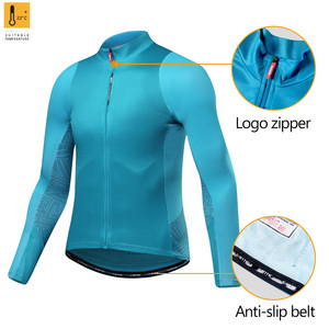 Image 2 - Santic Men Cycling Jersey Long Sleeves Fit Comfortable Sun protective Road Bike Tops MTB  Jersey  Jerseys Asian Size WM8C01100