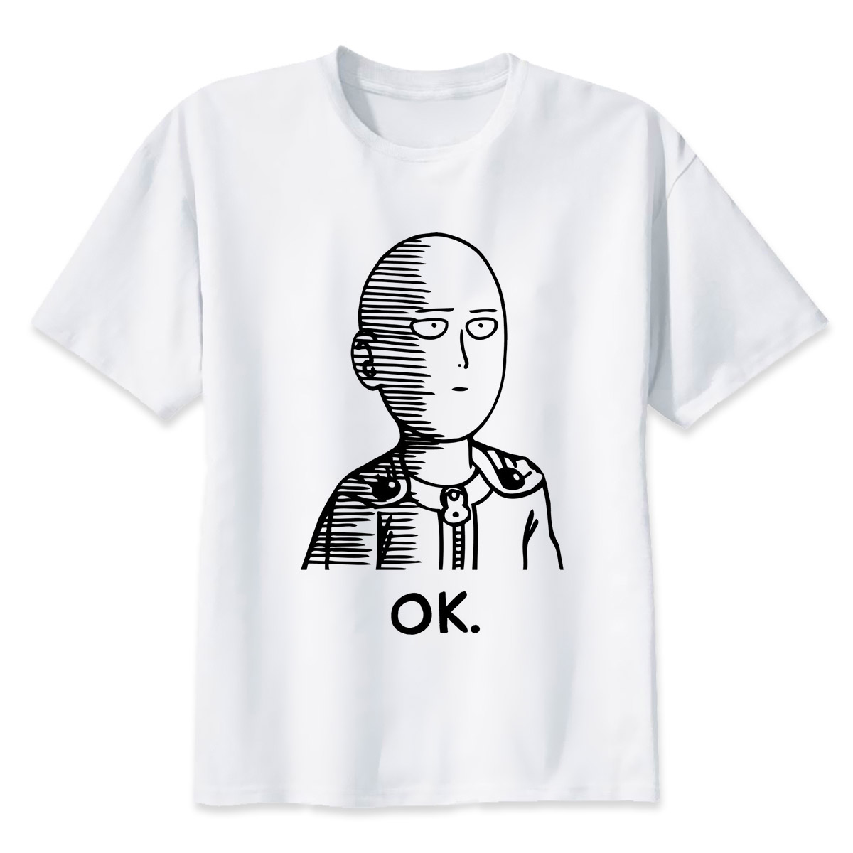 One Punch Man T-shirt Men Mens Casual T Shirts Brand Clothing Man's Short Sleeve T-Shirt Tops Tees Plus Size