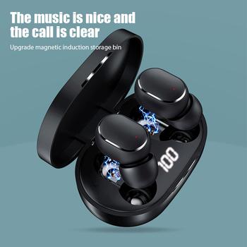 A6S bezprzewodowe słuchawki Bluetooth 5 W wieku 0 bezprzewodowe słuchawki douszne w ucho zestaw słuchawkowy dla aktywnych E6S TWS słuchawki do zestawu głośnomówiącego dla telefonu komórkowego tanie i dobre opinie YEINDBOO Rohs Dynamiczny CN (pochodzenie) wireless 100dB 2 mW Słuchawki do monitora Do gier wideo Zwykłe słuchawki do telefonu komórkowego