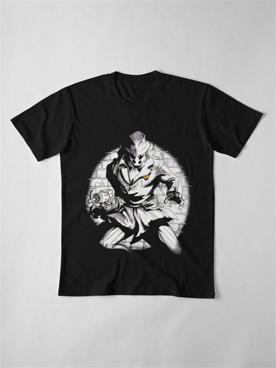 Watchmen The Outlaw Rorschach With The Comedian/'s Pin Black T-Shirt