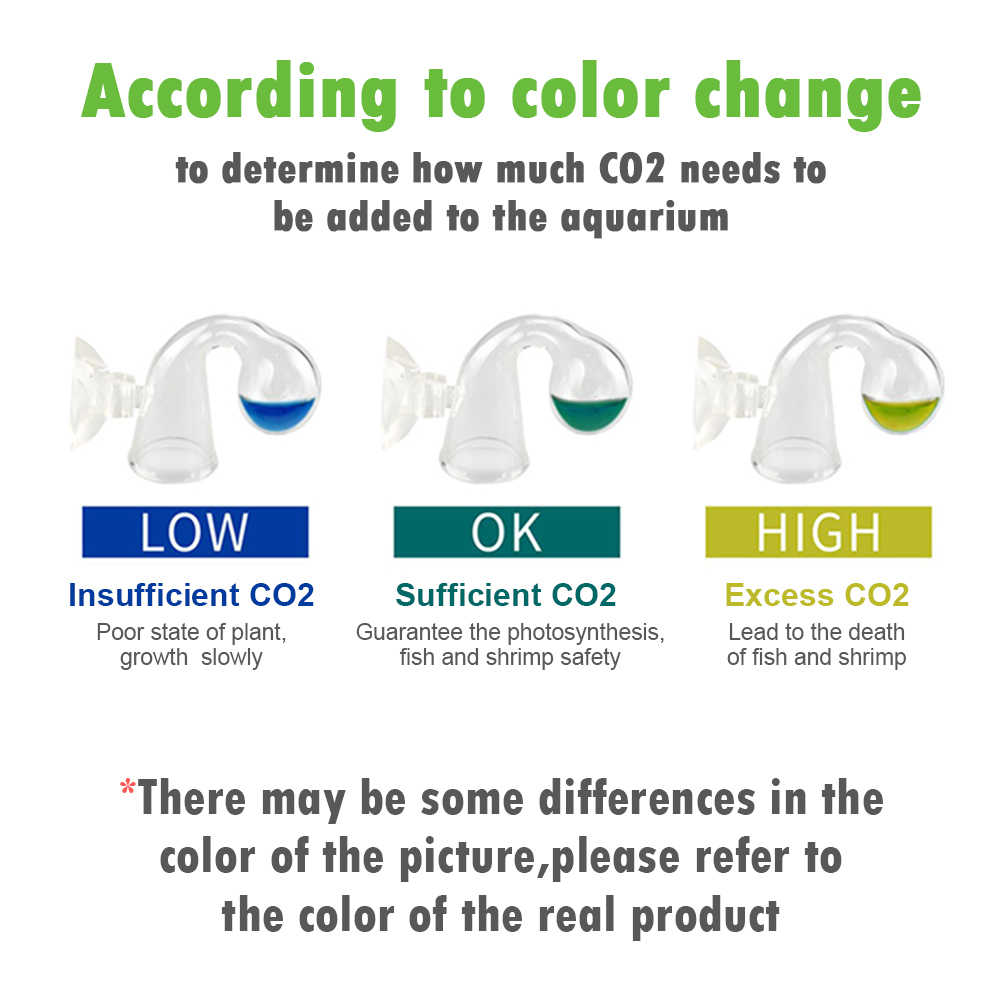 Cá CO2 Màn Hình Kính Thả Máy Kiểm Tra Độ PH Lâu Dài Chỉ Báo Màn Hình Máy 15 Ml