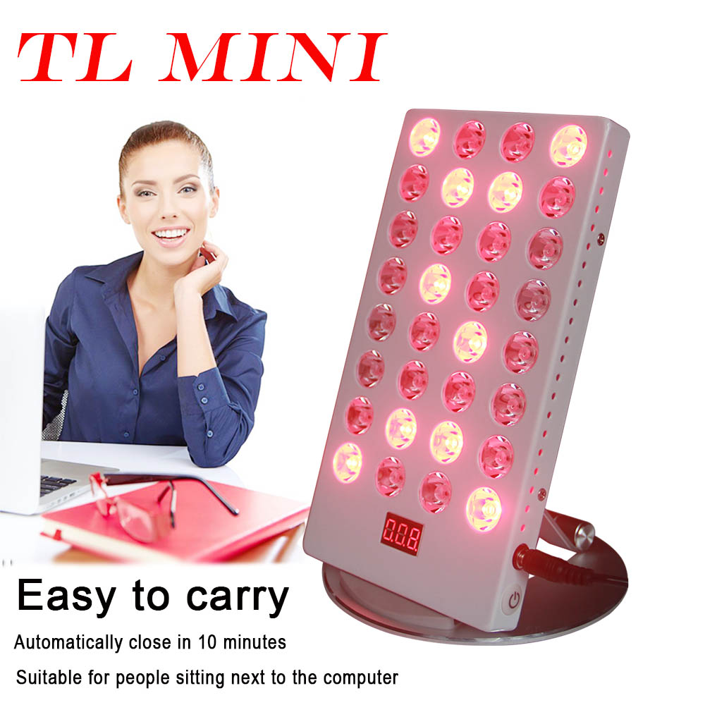 Mini 660nm 850nm LED Red Light Treatment USB Office Desk Timer Control Skin Care Physiotherapy Lamp
