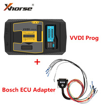 Original V5.0.0 Xhorse VVDI Prog Programmer with For Bosch ECU Adapter Read For BMW ECU N20 N55 B38 ISN without Opening