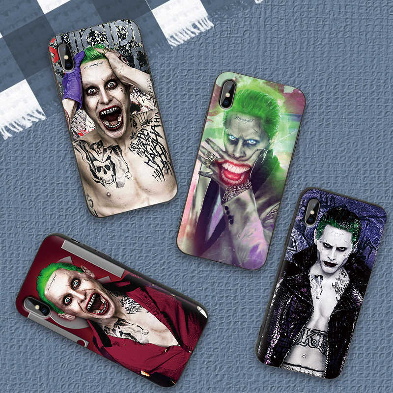 Para o iphone 6 6s 7 8 Plus X XR XS Max 5 5S SE Telefone Cas Task force x jared leto clown Suave TPU Para o iphone X