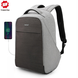 Tigernu Anti theft Backpack Reflective Strip Splashproof Male Laptop Backpack for Men Teen Boys Fit for 15.6'' Computer Mochila
