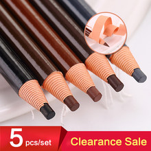 Crayons de maquillage à sourcils, ensemble de 5 pièces/ensemble, stylo coloré, rehausseur de sourcils, Art cosmétique, teinte étanche, type stéréo, accessoire de beauté
