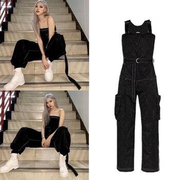 Kpop Seo Yea Ji mujeres Casual Demin Jumpsuit pantalones Jeans señoras Streetwear monos de moda mamelucos mujer hip hop Pantalones