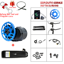 Bafang 36v25 0w/350w/500w 48v500w/750w bbs01/bbs02 kit de conversão do motor motor central da bicicleta