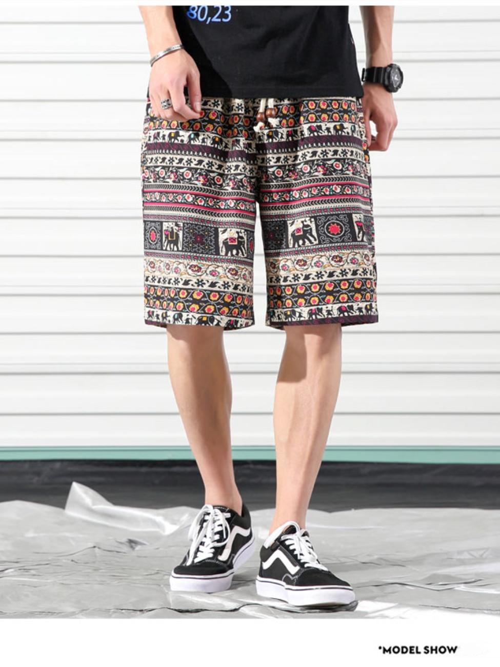 Casual Shorts Clothing Printing Loose Men's Cotton Fashion Summer Comfortable Brand BAO
