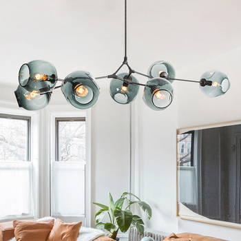 Modern Glass Pendant Light Nordic Dining Room Kitchen Light Designer Hanging Lamps Avize Lustre Lighting american country vintage retro pendant lights industrial warehouse lighting light for kitchen dining room suspendus lustre lamps