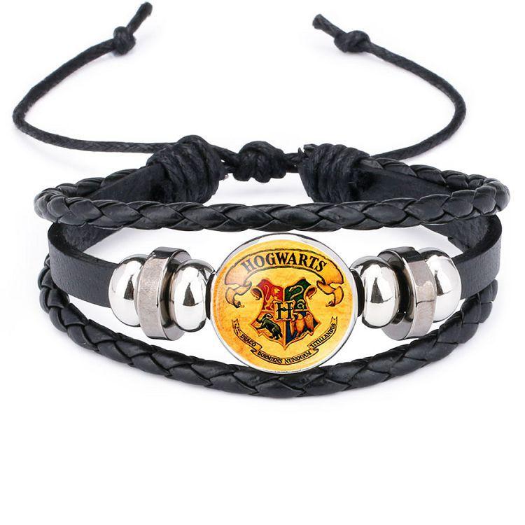 Potter Weave Bracelet Cosplay Accessories Magic Badge  Gryffindor/Slytherin/Hufflepuff/Ravenclaw