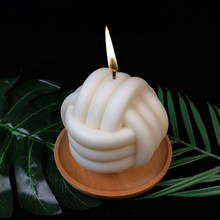 3d forma geométrica bola de lã vela moldes de silicone bolo cera sabão molde diy aromatherarpy decoração do agregado familiar artesanato ferramentas