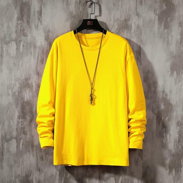 Купить новинка осени 2020 футболка с длинными рукавами мужской свитер картинки цена