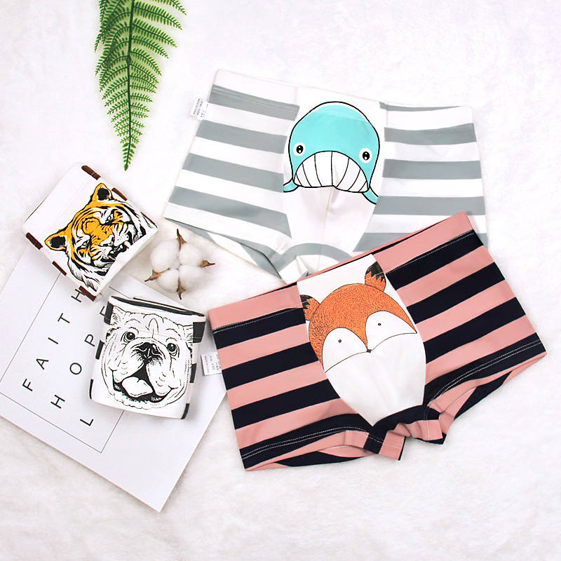 Cotton Kids Boy Panties Children Underwear Cartoon Panty Printed Baby Boys Girls Boxer Briefs Boys Panties 2-14T Kids Shorts