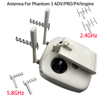 Antena yagi-uda do pilota Phantom 3 4 antena wzmacniająca sygnał przedłużacz zasięgu do serii DJI Phantom 3 4 Inspire tanie i dobre opinie QISHKJ CN (pochodzenie) Yagi-Uda Antenna For Phantom 3 4 Remote Controller Signal Booster for DJI phantom 3 4 inspire 2