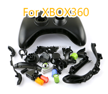 1set Controller Housing Shell Set ABS Plastic Faceplates Buttons Kit For Xbox 360 Wired Gamepads