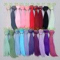 Парики для куклы «сделай сам», прямые волосы, красные, зеленые, синие, 15 см, 25 см