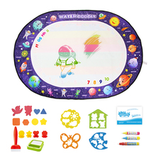 100x70cm Magic Drawing Board & 3 Water Doodle Pens & 1 Stamps Set Coloring Painting Educational Toys for Kids Drawing Mat