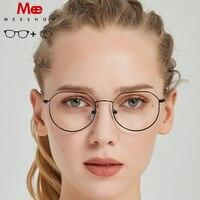 Trends titanium alloy myopia glass women men's glasses vintage oculos feminino de grau armação French prescription glasses 8907