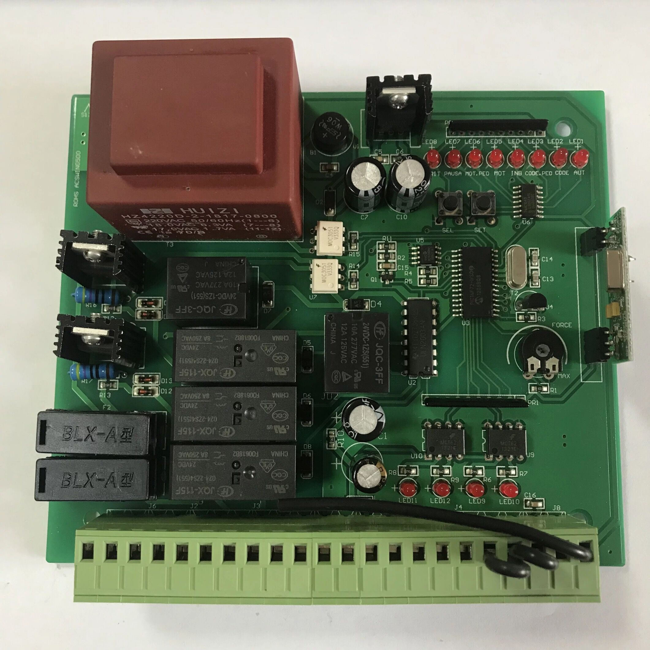 AC Motor Swing Gate Opener Board Card Chip Circuit Board Controller Control Panel Remote Control Optional