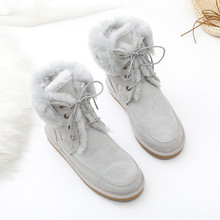 Shoes Women Snow-Boots Sheepskin Winter New Genuine