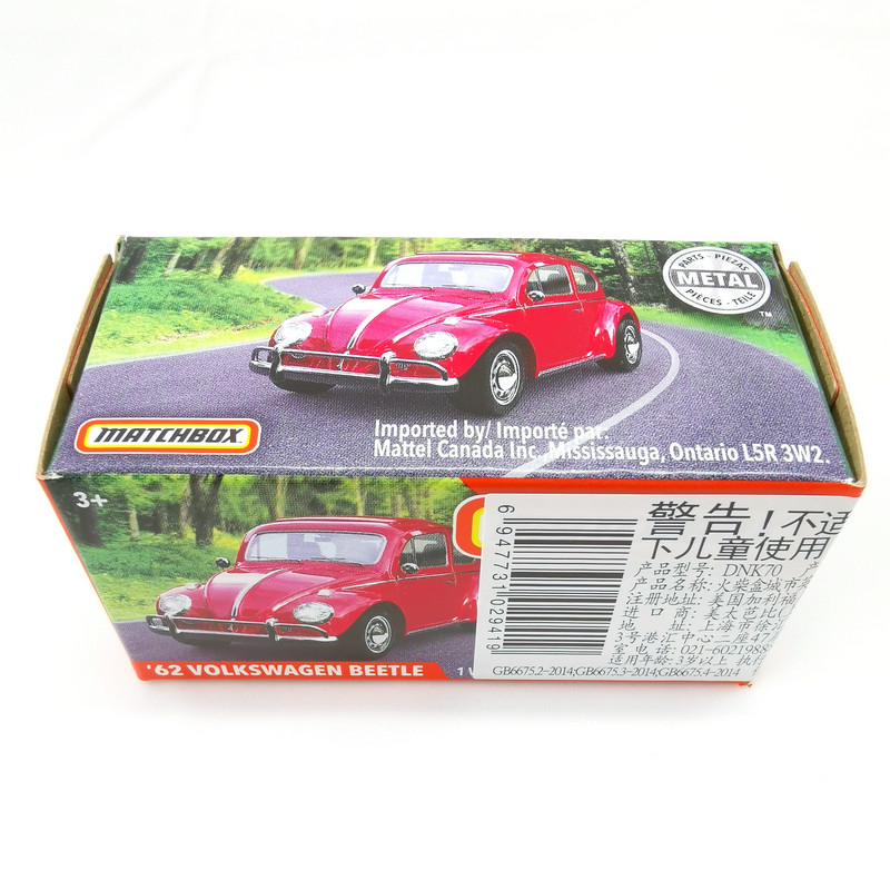 2019 Matchbox Cars 1:64 Car 62 VOLKSWAGEN BEETLE Metal Diecast Alloy Model Car Toy Vehicles