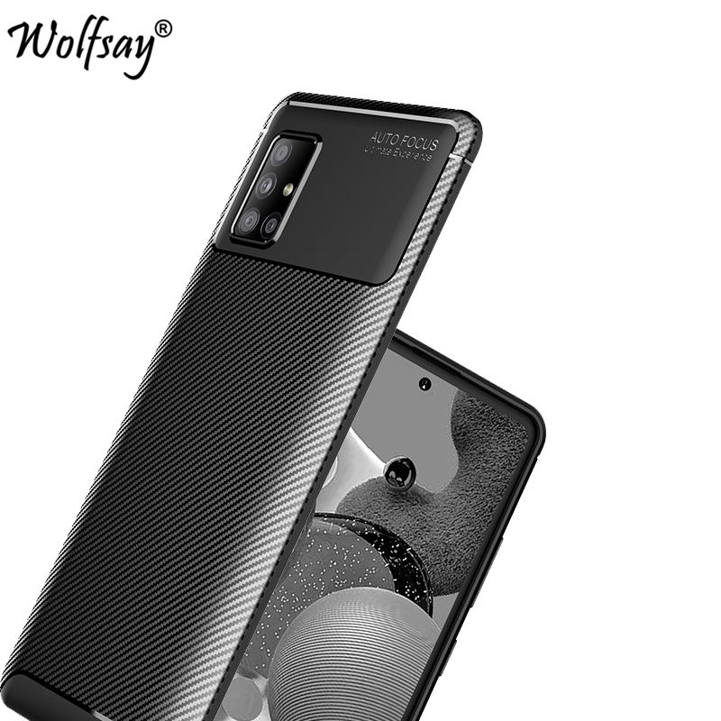 For Samsung Galaxy A51 5G Case Bumper Silicone Carbon Fiber Shockproof Cover For Samsung A51 5G Case For Galaxy A51 A516 5G 6.5\